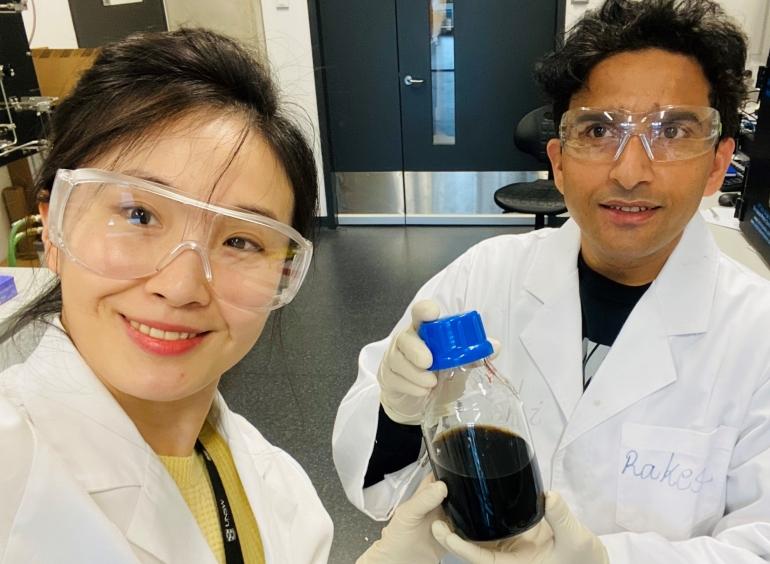 Dr Xiao Sui (left) Dr Rakesh Joshi