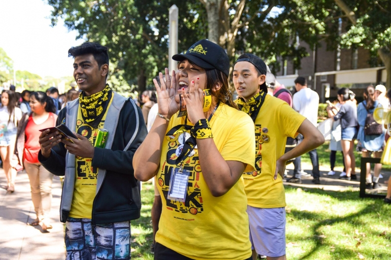 International students at UNSW O-Week