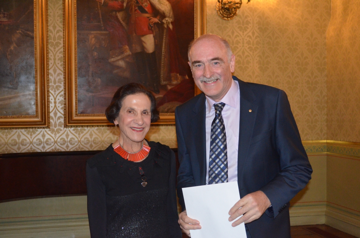 Professor The Honourable Dame Marie Bashir AD, CVO & Professor Fred Watson