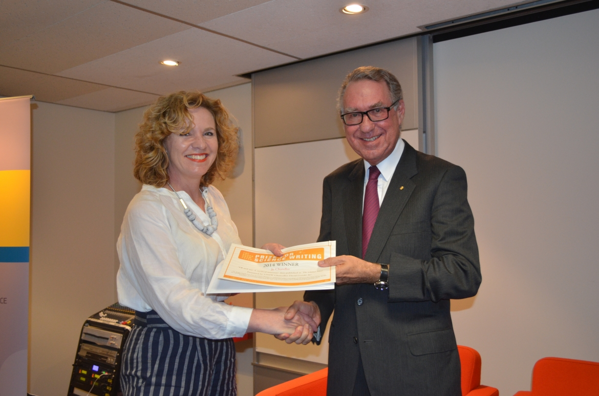 Jo Chandler and David Gonski AC