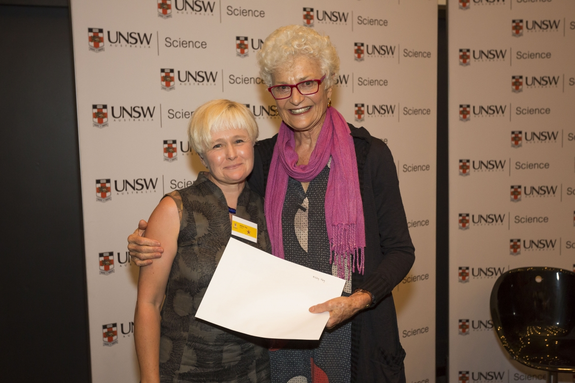 Ashley Hay and Professor Fiona Stanley (Image: Matthew Vasilescu)