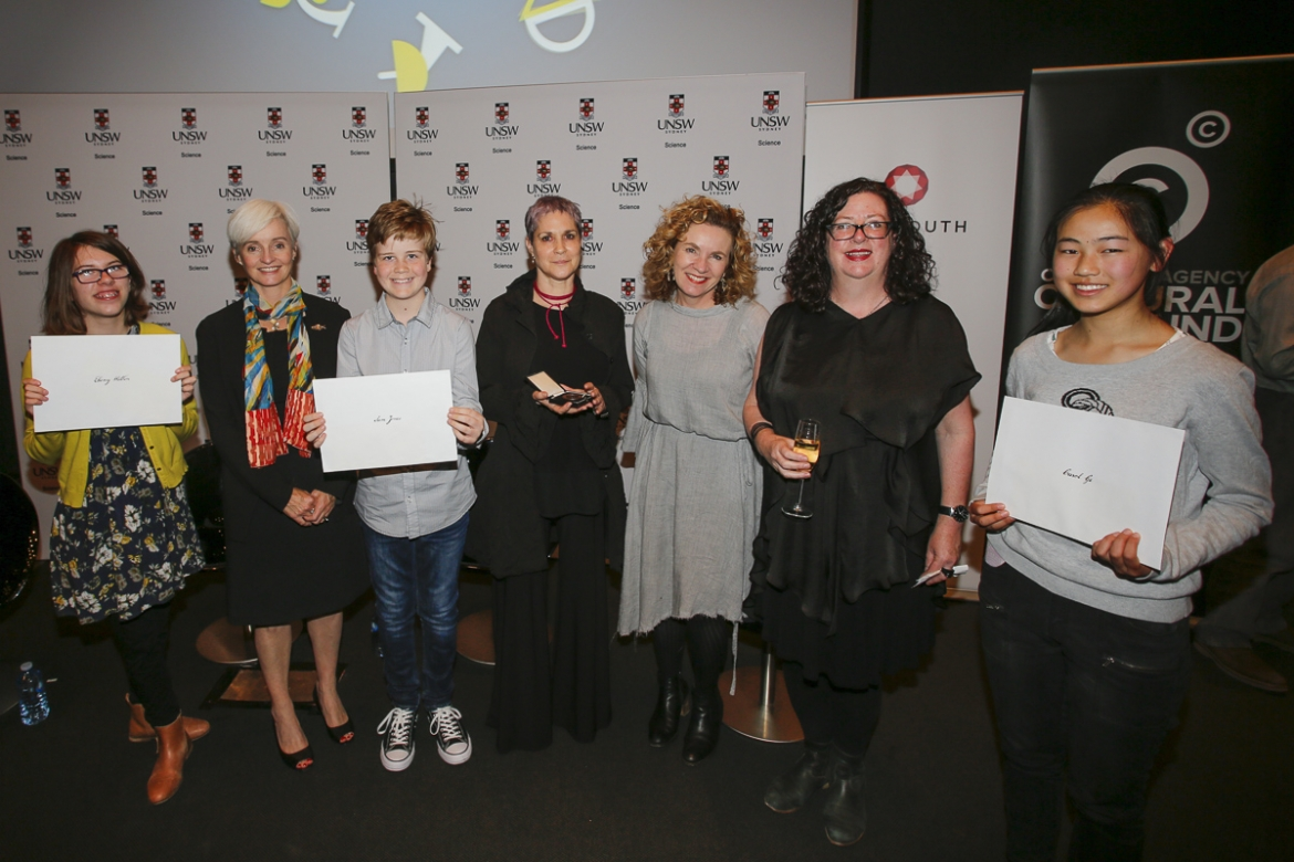 Ebony Wallin, Professor Emma Johnston, Sam Jones, Margaret Wertheim, Jo Chandler, Dr Alice Gorman, Carol Ge