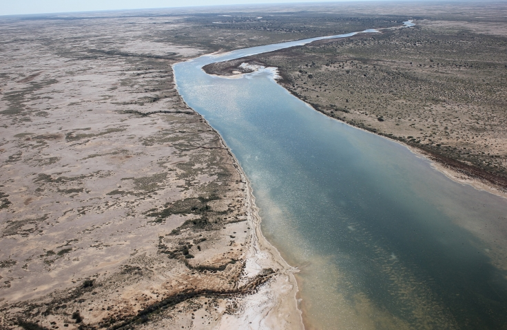 Lake Eyre tributary in flood