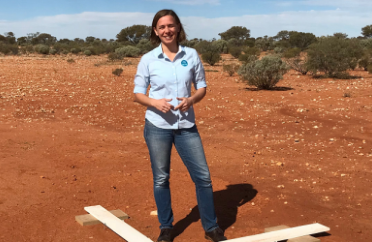 Professor Lisa Harvey-Smith in Australian outback