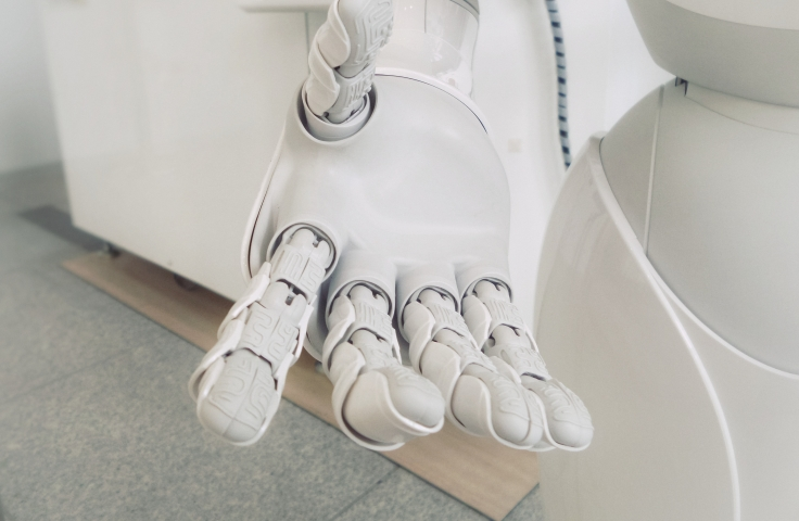 Robotic hand of artificial intelligence