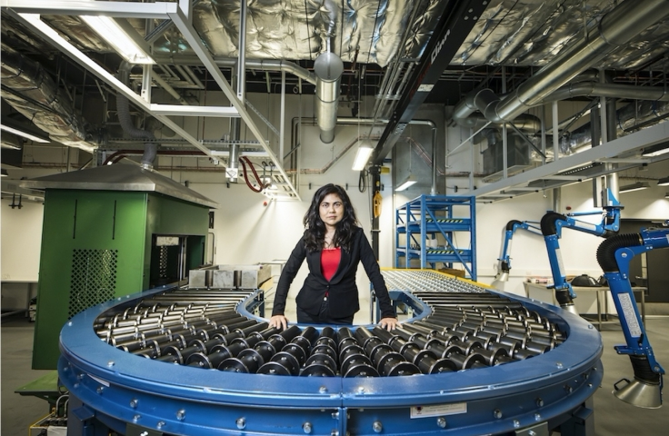 Veena Sahajwalla in the microfactory